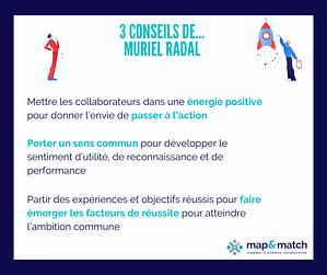 Les 3 conseils de Muriel Radal